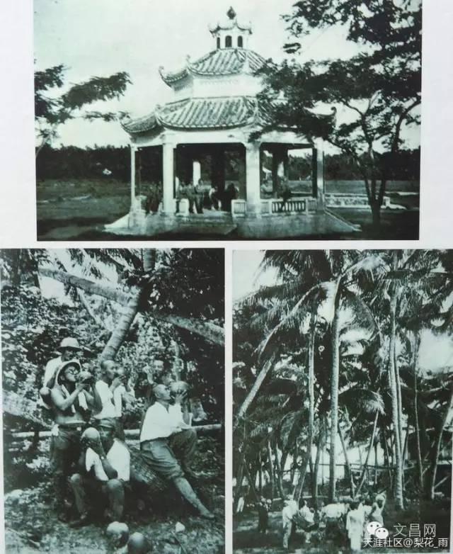 日本兵在文昌县城郊外休整