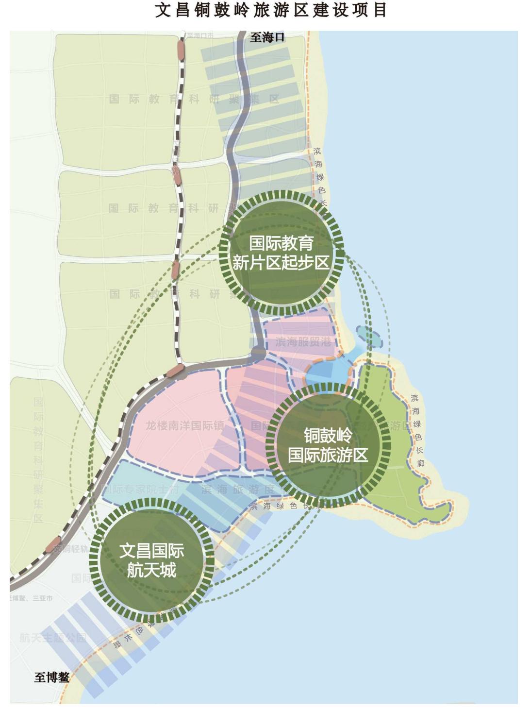 文昌铜鼓岭旅游区建设项目规划图
